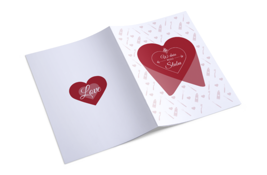kartka na ślub indywidualny projekt