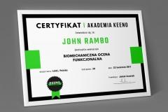 KEENO-certyfikat